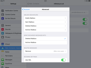 iOS Mail advanced