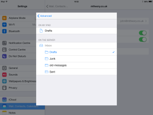 iOS Mailbox behaviours